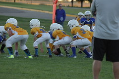 1285 (bubbaonthenet) Tags: 09292016 game stma community 4th grade youth football team 2 5 education tackle 4 blue vs 3 gold