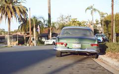Mercedes 280SE  San Diego, CA (Ash Dowie) Tags: mercedes merc automobiles cars german green california 280se 280 sandiego coronado july summer street palmtrees w111 w112 w113 canon 6d slr dslr 50mm 14 f14 14 ef usm dof bokeh naturallight sunset lowsun sun