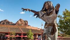 Sedona Cloud Catcher (Ron Drew) Tags: nikon d800 nativeamerican sedona arizona az redrock statue bron bronze route89a