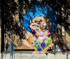Mother Nature (hector_cbs) Tags: mother nature graffiti color shadows colorful plants