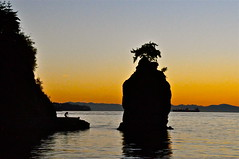 Siwash rock (kristinkarmella) Tags: rock water sunset sillouette
