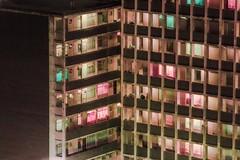 Johannesburg (elsableda) Tags: windows apartment building architecture urban pink green johannesburg joburg southafrica concrete surreal dystopia cyberpunk