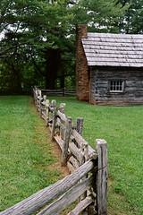 Puckett Cabin, Blue Ridge Parkway, VA, 2016 (Tom Powell) Tags: blueridgeparkway virginia film colornegative kodakportra160 lines 2016 minoltasrt101 50mmf17rokkor