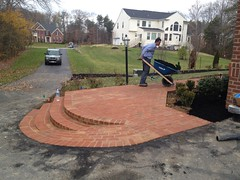 construction (45) (The Sharper Cut Landscapes) Tags: brick walkway steps patio thesharpercutlandscapes thesharpercut landscapedesign landscaping landscapelighting