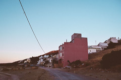 Eddalya (gabriel_90sflav) Tags: analogue maroc morocco retro vintage grunge vibe art aesthetic vapor vaporwave light rose pastel pink sky house rad road path cable 35mm film expired uv tanger tangier outdoor sunshine sunrise chill grain noise skylight