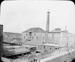 Mountjoy Brewery, Dublin. Looks like current Mountjoy Prison building. (National Library of Ireland on The Commons) Tags: thomasholmesmason thomasmayne thomashmasonsonslimited lanternslides nationallibraryofireland mountjoybrewery mountjoyprison northcircularroad dublin history findlater findlaters russellstreet crokepark westwardhouse dobsonsbottlers maltings royalcanal