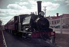NZR 0-6-0ST F 180 (Meg Merrilies) Onehunga Station AUg 1965 (TJM2012) Tags: newzealandrailways nzr yorkshire 060st f 180 megmerrilies onehunga res railwayenthusiastssociety 1965 steam