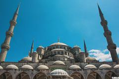 Blue Mosque - Sultan Ahmet Camii - Istanbul - Turkey (TLMELO) Tags: newmosque istanbul turkey turquia istambul mesquitanova yenicami faith f pray reza isl islo islam alcoro quran koran sanctasophia sanctasapientia