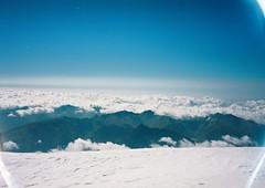 (Nikolay Kulivets) Tags: 35mm film olympusmjuii mjuii kodak georgia kazbek caucasus alpinism clouds mountain landscape ridge snow