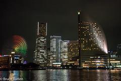 160930 Yokohama-Kawasaki night cruise-14.jpg (Bruce Batten) Tags: night locations tokyobay yokohama northpacificocean oceansbeaches urbanscenery honshu buildings subjects japan kanagawa yokohamashi kanagawaken jp reflections