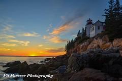 Bass Harbor Head Light (Fitforeverphotographer) Tags: lighthousesunset sunset mainelighthouses lighthouse bassharborlighthouse bassharborheadlight