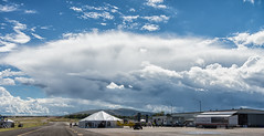 Rainstorm over Prescott (dagnyg) Tags: aopaflyin airplane airport azmonsoon clouds prescottaz weather