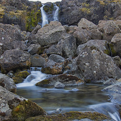 water always finds a way (lunaryuna) Tags: iceland easticeland djupivogur fossardalur valleyofwaterfalls waterfall rocks obstacle mountainburn water le longexposure nature landscape spring season lunaryuna