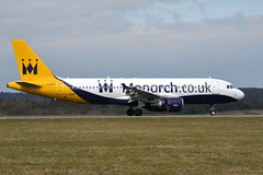Monarch Airlines G-OZBX (Howard_Pulling) Tags: easter march nikon aircraft bedfordshire monarch airbus airlines luton airliners lutonairport eastersunday monarchairlines 2013 londonluton hpulling howardpulling d5100 nikond5100