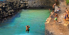 Taking the Plunge (Marlytyz) Tags: boys water swimming jumping hole diving