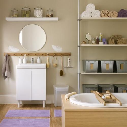 IKEA Open Shelves Bathroom