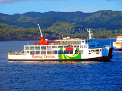 Marina Ferries M/V Reina Del Cielo (*Irvine*) Tags: ocean trip travel sea ferry port marina island pier dock asia barco sailing ship pacific time philippines tourist cargo route arrive trips filipino voyager passenger batangas pinay filipina boracay southeast float backpacker departure ferries bora pinoy bollard roro visayas dagat montenegro pilipinas caticlan voyages traveler roxas berth turista anchored moored ply barko 2go odiongan karagatan mandaragat byahero manlalakbay
