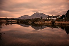 Beinn na Caillich Reflection (Andy Watson1) Tags: uk travel house holiday snow mountains west reflection skye water clouds canon reflections river island hotel evening march scotland spring highlands scenery long exposure isleofskye britain united great scottish sigma kingdom na inner snowcapped isle broadford hebrides beinn beinnnacaillich caillich of 450d thebroadfordhotel