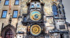 Astronomical Clock-Prague (Roberto Braam) Tags: old city sky sun moon building clock square skeleton town nikon europa europe european republic czech prague display time details capital gothic dial center medieval historic calender czechrepublic historical cz months roberto kalender figures centrum sculptures oud mechanism position components klok praag astronomical uhr medallions historisch tsjechie orloj tijd braam astranomy d5100