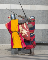 The Cut and Thrust at Leeds (Steve Barowik) Tags: museum soldier canal nikon photographer leeds warrior fullframe fx weaponry armour navigation exhibits weapons westyorkshire highspeed clarencedock d600 royalarmouries airecalder ls10 nikond600 catchycoloursredblue barowik stevebarowik sbofls26 catchycoloursyellowred