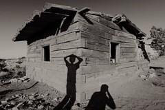 (M Brian M) Tags: utah cabin mining trail shanty moab shack sihouette bwblackandwhite