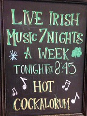 Hot Cockalorum! - RiRa Irish Pub - Las Vegas, NV (tossmeanote) Tags: las vegas music irish hot green sign yellow bay pub live nevada band 7 nv shops nights chalkboard mandalay iphone rira shoppes 845 2013 cockalorum tossmeanote