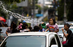Happy New Year (paza140) Tags: road street water girl festival kids thailand play traffic pickup newyear national splash geographic paza140