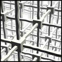 Cubic-Space-Division (marecaca) Tags: render space gimp math division povray cubic echer mcecher