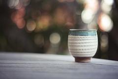 (DhkZ) Tags: japan tokyo tea bokeh handmade pottery teacup rokkor55mmf17 canon5dii