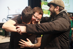 Three Aces hugs - Baconfest 2013.jpg (opacity) Tags: chicago illinois il baconfest uicforum baconfestchicago chicagobaconfest baconfest2013 baconfestchicago2013 chicagobaconfest2013 baconfest2013candidish baconfestcasuals2013 baconfest2013nondishes baconfest2013announcements