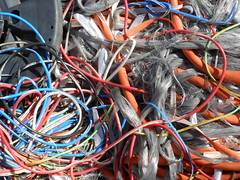 Cable Dump #2 (mikecogh) Tags: junk dump cables lazy wires rubbish spaghetti electrical shame forestersforest