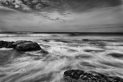Time (Valeria Sig) Tags: ocean longexposure sea sky bw clouds canon landscape rocks lee sigma2470 canon5dmarkii