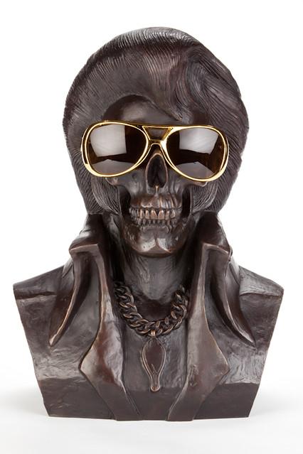 FRANK KOZIK - 貓王之死 青銅雕像極限量22 體