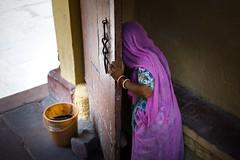 a Woman behind the door (SungsooLee.com) Tags: door leica trip travel shadow india color 50mm apo summicron journey asph jodhpur m9 f20 woma mydays m9p mydaystravel mydaysphoto