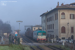 998 - 345_1087 + coils EMPOLI - CASTELLINA 13-2-2013 (Frank Andiver TRAIN IN TUSCANY) Tags: italy train canon frank photo italia photos rail trains tuscany rails locomotive toscana treno fs trenitalia treni ferrovie binario andiver