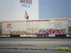 A Cryo-Trans Refrigerated Boxcar (BreTTMan1990) Tags: orange white idaho highdessert