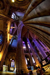 Cathedral of Saint John the Divine (Gary Burke.) Tags: nyc newyorkcity roof ny newyork church window canon religious eos rebel worship cathedral manhattan religion wideangle stainedglass ceiling fisheye uptown nave gothamist dslr episcopal anglicanchurch fisheyelens morningsideheights uwa saintjohnthedivine garyburke klingon65 t1i canoneosrebelt1i