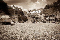 Untitled (2013-04-29 16:09:38) (Ian Hosker) Tags: sea summer fish tourism beach beer boats coast seaside fishing village tourists devon jurassic