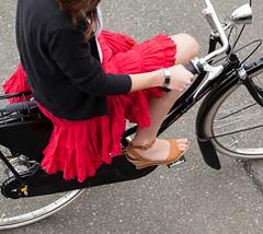 Heels on Wheels (Bhlubarber) Tags: woman bike bicycle magazine photo lily wheels style heels chic gazelle velo momentum timberland