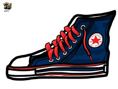 Chuck Taylor All Star (Red, White and Blue) (Eye of The Sun God) Tags: art illustration digital star all sneakers converse taylor chuck ipad