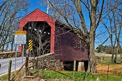Covered Wooden Bridge, Frederick County Maryland (joeleszc) Tags: maryland woodenbridge frederickcounty coveredwoodenbridge