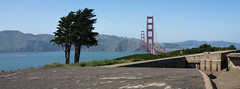 Battery, Bridge, and Cypress (gdurrett) Tags: sanfrancisco battery goldengatebridge cypress