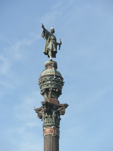 Columbus statue in Barcelona