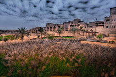 Qasr Al Sarab Desert Resort (Swissrock) Tags: clouds photoshop hotel march nikon desert uae resort abudhabi hdr photomatix tonemapping 2013 d700 andykobel qaseralsarab