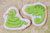 Snake & Chameleon Cookies (Sweet Pudgy Panda) Tags: green cookie reptile snake lizard safari chameleon sweetpudgypanda