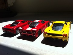 The team (Scuderia Phoenicia's Hobby and Die-cast models) Tags: red yellow grey model photoshoot ferrari collection enzo lamborghini lineup murcielago fabbri f50 143 minichamps fxx reventon hachette lp640 altaya 599xx grigrioavalon collectionferrarigt collectionferrarienzo110
