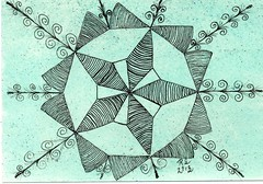 Zentangle 230 (ronniesz) Tags: doodles zia mandela penink tangles zentangle zendalas