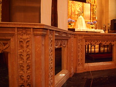 altar rail datail (Gone Churching) Tags: st catholicchurch peters bostonma dorchesterma