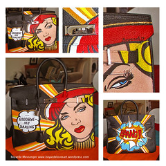 Goodbye my Darling! 2013 (boyarde) Tags: art popart handpainted commission bespoke birkin boyarde leathervintage fashionandart popartpaintingonleather