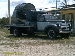 CHEVROLET FLATBED TRUCK (bitemeasshole69) Tags: old blue colour chevrolet truck vintage drive cool different power wheels historic odd chevy transportation vehicle searchlight neat past oldwheels radial commercialvehicle flatbedtrucks
